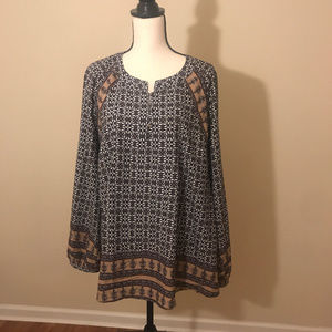 Anthropologie 11 1 Tylho Aubina Peasant Top XL
